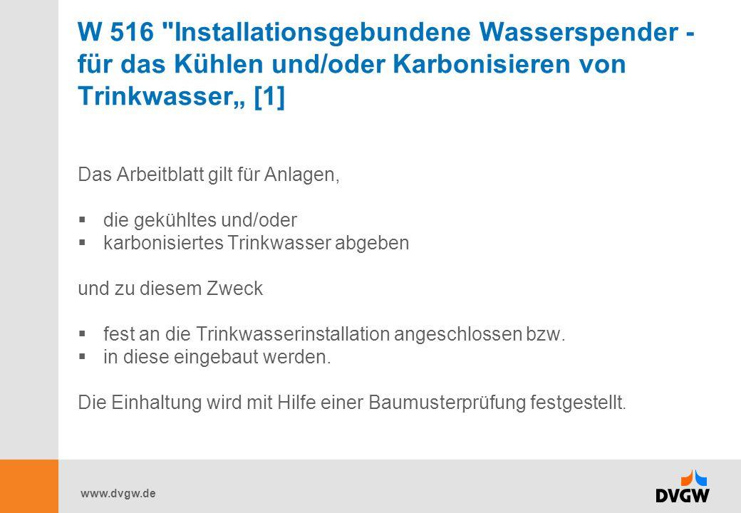"""W 516 Installationsgebundene Wasserspender - für das Kühlen und/oder Karbonisieren von Trinkwasser"""" [1]"""